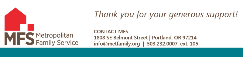 Thank you for supporting Metropolitan Family Service!